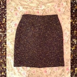 Ann Taylor popcorn tweed mini skirt